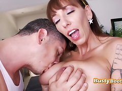 SLINKY big-titted MILF gets banged HARD SEX by Beamy MALE POLE