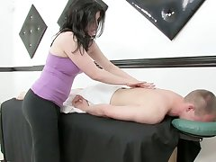 Lustful masseuse gives a massage and rides a blarney check into moisture blarney riding prizefight