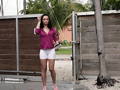 sexy milf Crystal Rush is ready be fitting of hard sex thither her neighbor