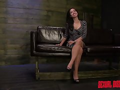 After being interviewed by her master submissive slut wants to be punished