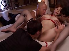 Winsome busty oriental Anri Okita blows the cock