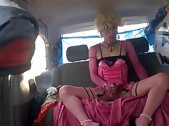 My Session Parking Curbside in Pink/Black Hooker Costume, 6 Heels 1/2