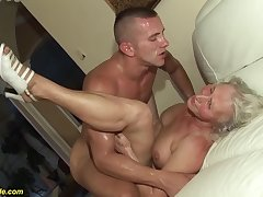 horny 76 years old granny gives a wikd tit fuck and extreme deepthroat for will not hear of young toyboy