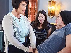 Horny mom make a capacity to say no to muddied pussy