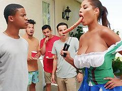 Hardest Oktoberfest line up sex for drunk wife