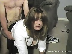 Thick and busty wife makes their way first homemade porno