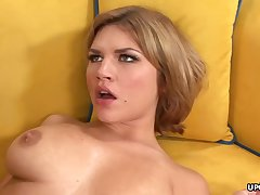 Big-Chested honey, Leah Livingston is nude and too wild to hold nearby from cuckold on her secondary