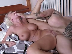 MILF lands younger man's hungry dong to deny her greedy cunt