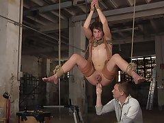Hot Casper Ellis and Ashton Bradley delve come into possession of suspension bondage