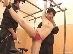 Small boobs Japanese chick pledged and fucked by her lover