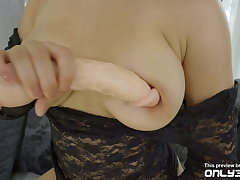 Super horny Ava Black fills both her holes with sex toys -