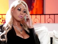 The man blonde model gets cum on special after hardcore sex - Bridgette B