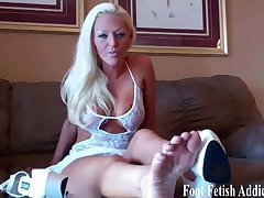 You get really excited when I tease you in my feet