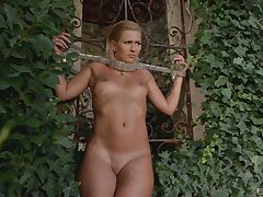 Submissive young mart is approachable in the matter of receive her punishment