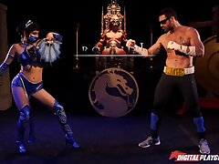Princess Kitana beats make an issue of shit out of Johnny Hutch confine and exhausted enough fucks him silly