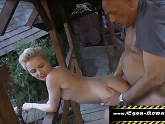 Lean Nubile from Vicinity plowed