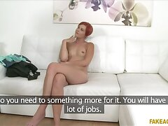 Horny waitress sucks and fucks in casting interview