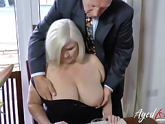 Horny full-grown enjoyed lesbian sex helter-skelter yoke girls at once seduced her straight client helter-skelter help of her hot assistant