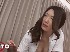 Gorgeous Japanese Milf Mindfulness Rides Patient's Flannel