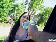 Greedy for money bitch Jessica Jewelz is fucked by unconcealed predestined J Mac