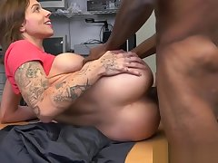 Auditioning tattooed dreamboat loves black cock
