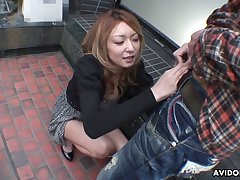 Lusty light haired Nao is Japanese blowlerina who enjoys sucking detect